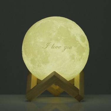 Tooarts Moon Lamp ❤ Valentinstag-Geschenk I LOVE YOU ❤ 3D-Druck LED-Licht Moderne Kunst Home Decor Mond In My Room EU-Stecker 100-240V 50 / 60Hz