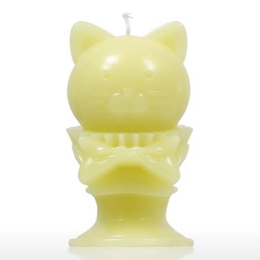 Tomfeel Aroma Kerze - Gelb Kätzchen Dekorative Aromatherapie Wachs Natürliche Baumwolle Wick