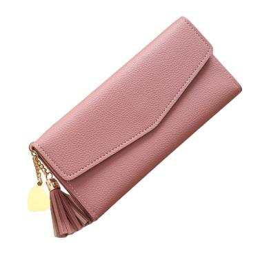 Mode Frauen Lange PU Geldbörse Hohe Qualität Bargeld Kreditkarte Halter Handtasche