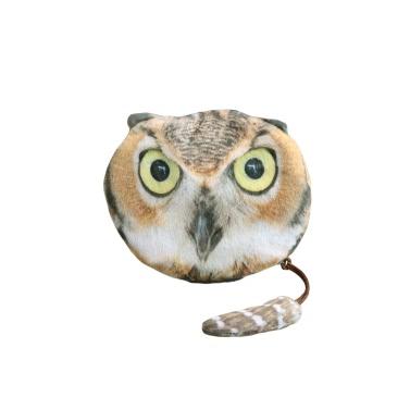 Mode Frauen Coin Purse Tierkopf drucken Reißverschluss Schließung niedlichen Mini-Geldbörse kleine Cartoon Clutch Bag