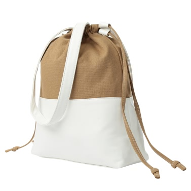 New Women Shoulder Bag Drawstring Large Capacity Student Outdoor Casual Bag Black/Khaki/Blue