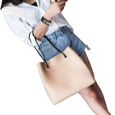 Frauen-Handtaschen-gesetzte PU-lederne zufällige Einkaufstasche-Umhängetasche-fester zusammengesetzter Taschen-Satz