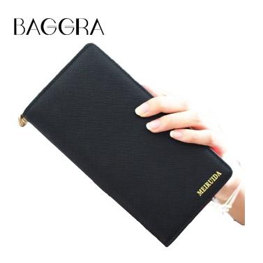 Neue Art und Weise Frauen-Mappe PU-Leder-lange High Capacity Multifunktions-Zipper Tasche Clutch Bag Motiv Falte