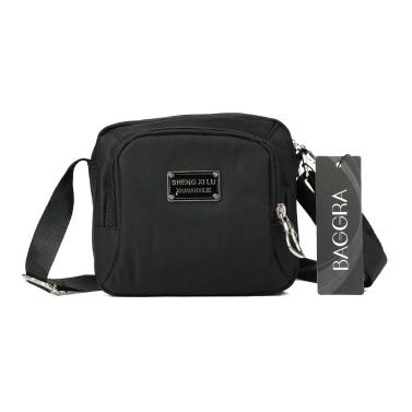 Neue Art und Weise Frauen Umhängetasche Tasche Nylon wasserdichte Reißverschluss Fastening Taschen Solide Umhängetasche