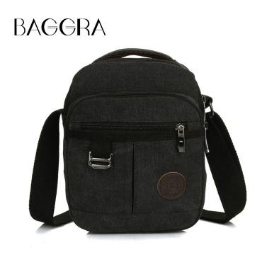 New Fashion Men Canvas Crossbody Bag Zipped Pocket Casual Travel Outdoor Small Shoulder Bag