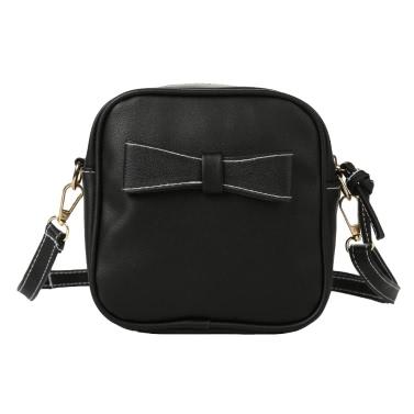 Neue Art und Weise Frauen-Mini Umhängetaschen weichen PU-Bogen-Normallack beiläufige kleine Schulter Messenger Bag Schwarz / Grau / Beige