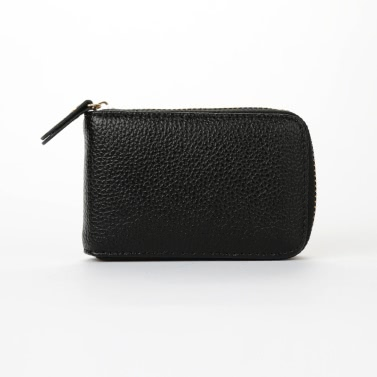 New Fashion Women Card ID Holder PU Leather Solid Color Zipper Multiple Slots Business Small Purse Wallet