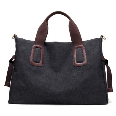 WomenCanvas Handtasche Lässig Große Kapazität Tote Bag Einfarbig Messenger Crossbody Umhängetasche
