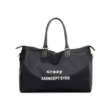 Mode Frauen Brief Print Nylon Umhängetasche Große Kapazität Reiseversand Casual Crossbody Tasche
