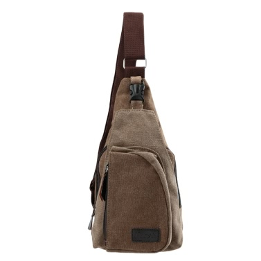 Alte Herren Canvas militärische Zipper Pocket Reisetasche Wandern kleine Tasche schwarz/Khaki/Kaffee