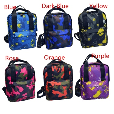 Fashion Cool Women Backpack Camouflage Print Colorful Children Schoolbag Travel Bag