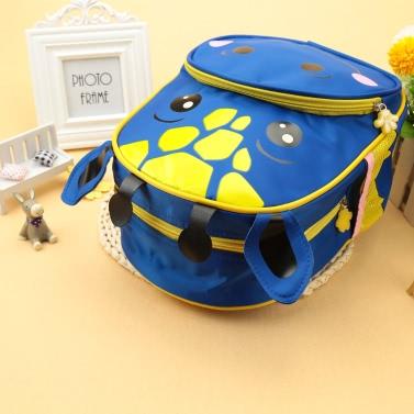 Kind-Rucksack-Karikatur-Tier Kalb drucken Nylon-Reißverschluss verstellbaren Riemen Jungen-Mädchen-beiläufige Schule Reisetasche