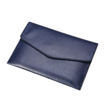 New Fashion Women Men Mini Clutch Wallet Leather Business Small Card Holder Coin Purse Blue