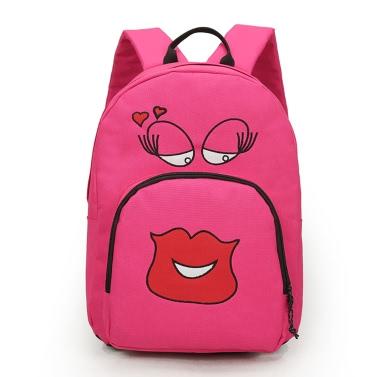 Neue Mode Frauen Mädchen Rucksack niedlichen Cartoon Print Studenten solide Sport Tasche Rucksack