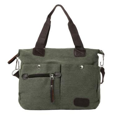 Retro Männer Frauen Leinwand Handtasche große Kapazität lässig einkaufen reisen Crossbody Messenger Tasche
