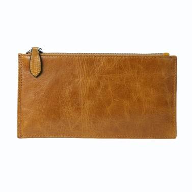 Neue Männer Lange Mappen-Klipp-Geld-Qualitäts-Leder Bargeld Kreditkartenhalter-Visitenkarte Thin Purse