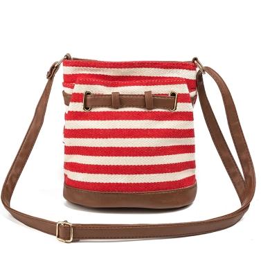 Frauen-Segeltuch-Beutel-Schulter-Beutel-Streifen-adrette Art-Mädchen-Handtaschen-Umhängetaschen-Kurier-Beutel