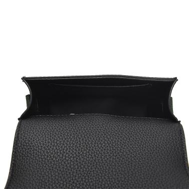 Fashion Women Shoulder Bag PU Leather Buckle Pompom Small Crossbody Messenger Bag Handbag Brown/Green/Red