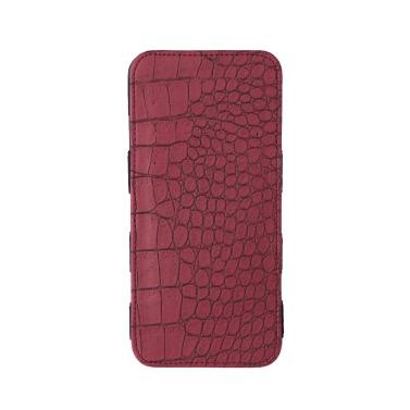 Frauen lange Brieftasche Krokodil Muster Bi-Fold Gummiband PU Geldbörse Clutch Bag Cash Card Inhaber Burgund/blau/rosa