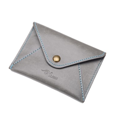 Fashion Men Faux Leather Mini Wallet Bifold ID Credit Card Holder Snap Coin Purse Envelope Case