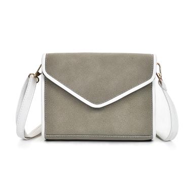 Vintage Frauen Schultertasche Faux Nubukleder V Form Klappe Umschlag Elegante Crossbody Messenger Bag