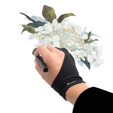 Huion GL200 Two-finger Free Size Drawing Glove Lightweight Sweatproof Artist Glove for Huion Graphics Tablet Graphic Monitor