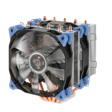 VTG 5 Heatpipe Radiator 4pin CPU Cooler Fan Cooling 5 Direct Contact Heatpipes with 120mm Fan for Desktop Computer