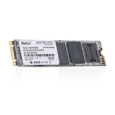 Netac N535N M.2 2280 SSD SATAIII 6 Gbit / s 240 GB PCIe Gen3 3D-MLC / TLC-NAND-Flash-Solid-State-Laufwerk