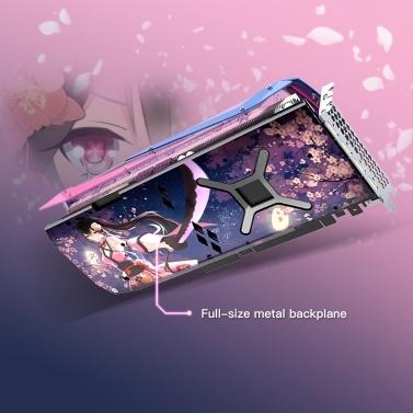Yeston RX5700XT-8G D6 YA Grafikkarte Navi10 7-nm-PCI Express 4.0-GPU mit geringem Stromverbrauch