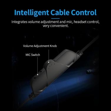 Upgrade A3 Gaming Headset Kopfhörer 50mm Treiber USB + 3.5MM Treiberfreier LED-Kopfhörer Virtual 7.1 Mehrkanal-Schwammohrschützer