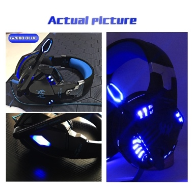 KOTION EACH G2000 3.5mm Gaming Headset Noise Reduction for PC Laptop Smartphone with Audio Adapter Cable
