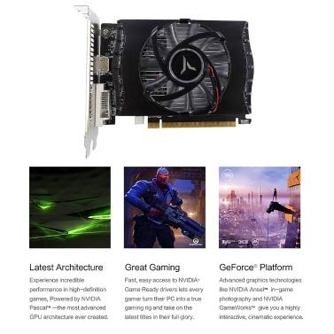 yeston  GT1030 2G D5 Gaming Graphics Card 1228-1468MHz/6008MHz 2GB/64BIT/GDDR5/DVI-D+HDMI2.0