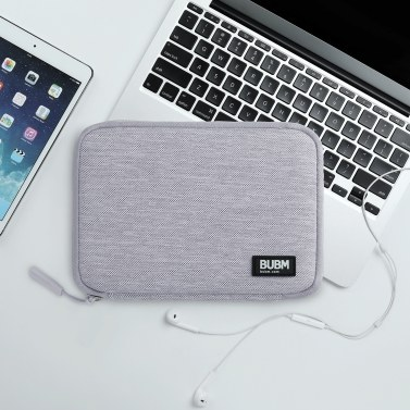 BUBM DIS-M-NZB-hui Cable Bag Mini Portable Storage Bag Travel Electronics Accessoriesfor Phone/U Disk/Memory Card/USB Cable