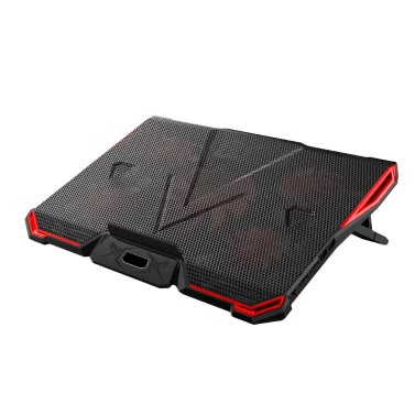 5 Fans Portable Laptop Cooling Pad LED Light Dual 2.0 USB Port Cooler Fit 17 Inch Notebook Heat Dissipation Cooler