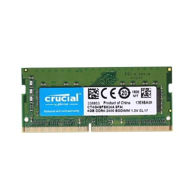 Crucial 4GB Single DDR4 2400 MT / s PC4-19200 CL17 1,2 V SODIMM 260-Pin Speicher für Laptop Notebook CT4G4SFS824A