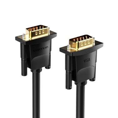 VENTION VGA-Verlängerungskabel VGA-Stecker / Stecker-HD-Adapterkabel Unterstützung 1080P Full HD für Laptop-PC-Projektor HDTV-Display und weitere VGA-fähige Geräte 30 m