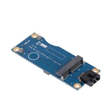 Mini-PCI-E zu USB-Adapterkarte mit SIM-Steckplatz WWAN-Testkonverter-Adapterkarte 3G / 4G-Modul horizontaler Typ