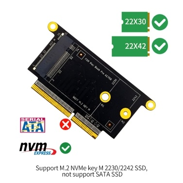M.2 NVME SSD Adapter Card M.2 NVMe Key M 2230/2242 SSD Converter Card for MacBook Pro A1708
