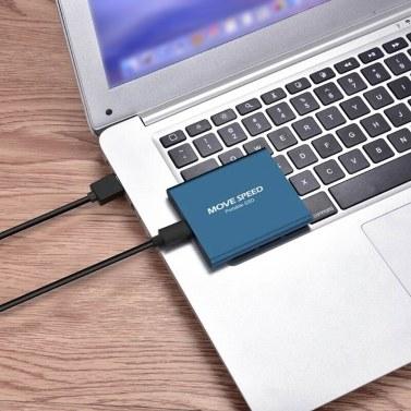 MOVE SPEED USB3.1-Schnittstelle der neuen Generation mit tragbarem Mini-1-TB-Speicherplatz Solide PSSD-Festplatte