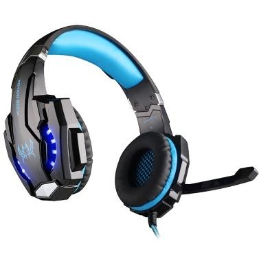 KOTION JEDES G9000 3,5-mm-Gaming-Headset mit Rauschunterdrückung für PC-Laptop Smartphone PS4-Switch mit Audioadapterkabel
