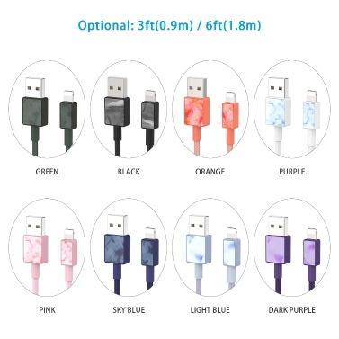 iFory Phone Charge Lightning-Kabel Schweres Nylon-geflochtenes USB-A-zu-Lightning-Ladekabel Robustes Kabel 20000+ Lebensdauer
