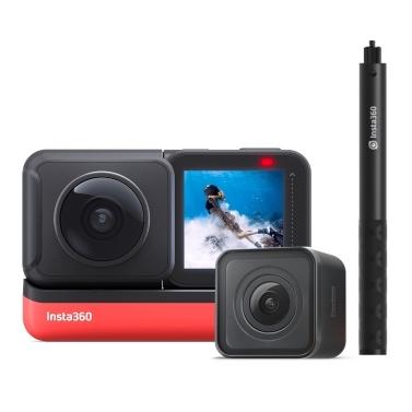Insta360 ONE R Twin Edition Dual-Objektiv-Anti-Shake-Sport-Action-Kamera (5,7K 360 ° -Panoramaobjektiv + 4K-Weitwinkelobjektiv)