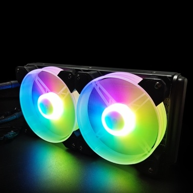 COOL MOON cold moon 240 One-piece PC Case Water Cooler with RGB 120mm Quiet Fans CPU Liquid Radiator for LGA775/115X/AM4/AM3/FM2