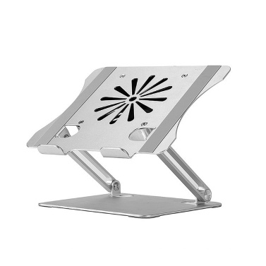 Adjustable Aluminum Alloy Laptop Stand with Cooling Fan Foldable Non-slip Laptop Holder Compatible with 10-17.3 inch Laptop