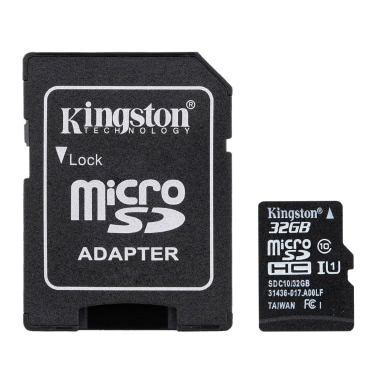 Kingston Class 10 8GB 16GB 32GB 64GB MicroSD TF Flash Memory Card 48MB/s Card Adapter