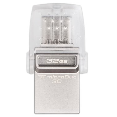 "Kingston DataTraveler microDuo 3C 16GB USB3.1 Typ-C OTG Dual Flash Drive Pen Laufwerk Memory Stick für neues MacBook 12 ""/ für 2016 MacBook Pro 13"" / PC / Smartphone"