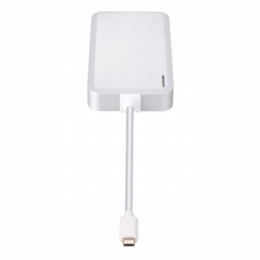 Multi-function USB 3.1 Type-C Multiport Hub Adapter USB-C HUB Converter USB Splitter USB3.0/Gigabit Ethernet/Type-C PD/HD Ports Delivery 4K Video HD Output New MacBook/Google Chromebook Pixel