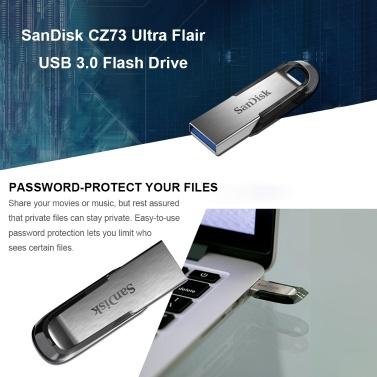 SanDisk USB 3.0 Flash Drive Flashdisk Memory Stick CZ73 Ultra Flair Pen Drives Pendrive 128GB 64GB 32GB 16GB U Disk 150MB/s for PC