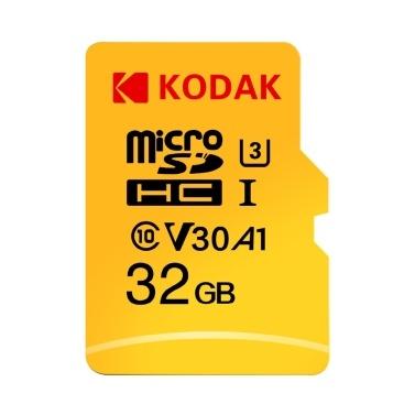 Kodak Micro SD-Karte 32 GB 4K Speicherkarte U3 A1 V30 100 MB / s