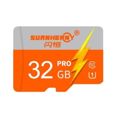 Hochgeschwindigkeitsspeicher TF-Karte HD-Kameraspeicherkarten Orange & 32 GB
